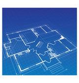 Plan a country house — Stock Vector