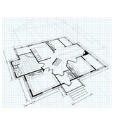 Plan een country house — Stockvector