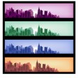 City banners — Stock Vector