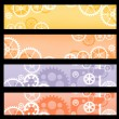 Banners gear - Stock Vector