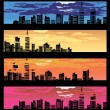 Color city banner - Stock Vector