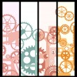 Banners with gears - Stock Vector