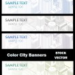 Different color of city - Stock Vector