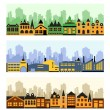 Fragment of the city — Stock Vector