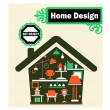The Home — Stock Vector