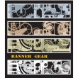 Banners with gears — Vector de stock