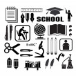 Stock Vector: Icon of school