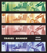 Banner on the theme of travel — Stock Vector