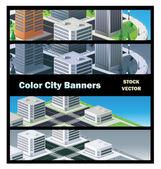 Urban buildings — Stock Vector