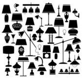 De lampen — Stockvector