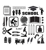 Icon of school — Vector de stock
