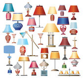 Color Lamps — Stock Vector