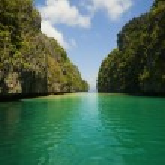 Blue Kayak — Stock Photo