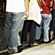 Stock Photo: Standing in Line
