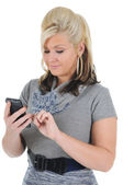 Attractive Woman Using a Smart Phone 01 — Stock Photo