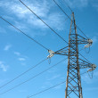 Elettric pylons truss in a sky — Stock Photo