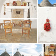 Collage of trulli houses, Apulia, Italy — Stock Photo