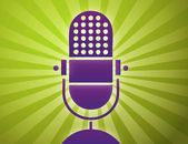 Retro microphone poster — Stock Vector