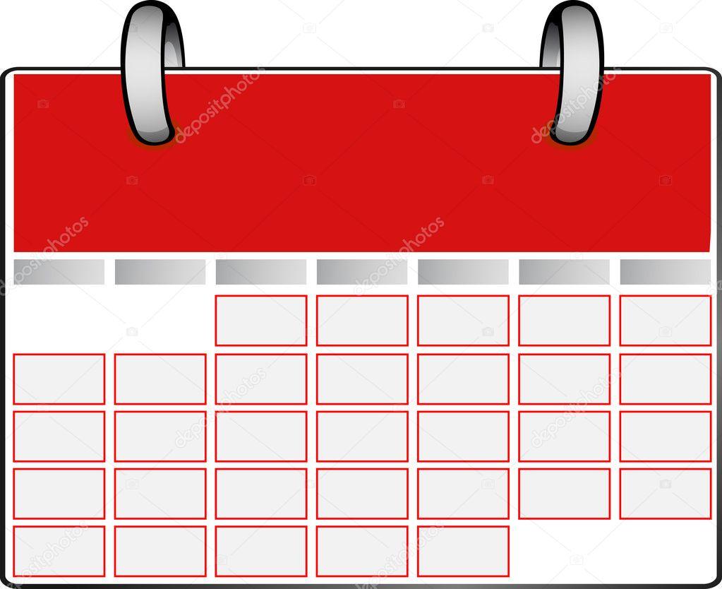 Calendar Red : Red calendar — stock vector wead