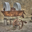 Old mill wheel - Stock Photo