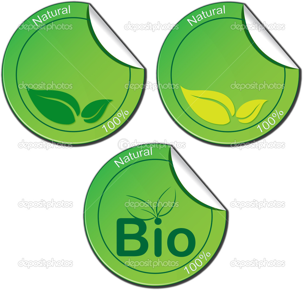 A bio Green ticket set — Stock Vector #5762156