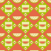 Melon pattern — Stock Vector