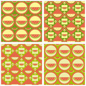 Cute melon patterns — Stock Vector