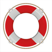 Life buoy isolated on white — Stock Vector