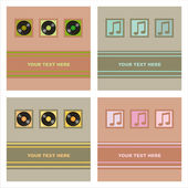 Cute musical cards — Stockvektor