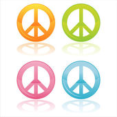 Colorful peace symbols — Stock Vector