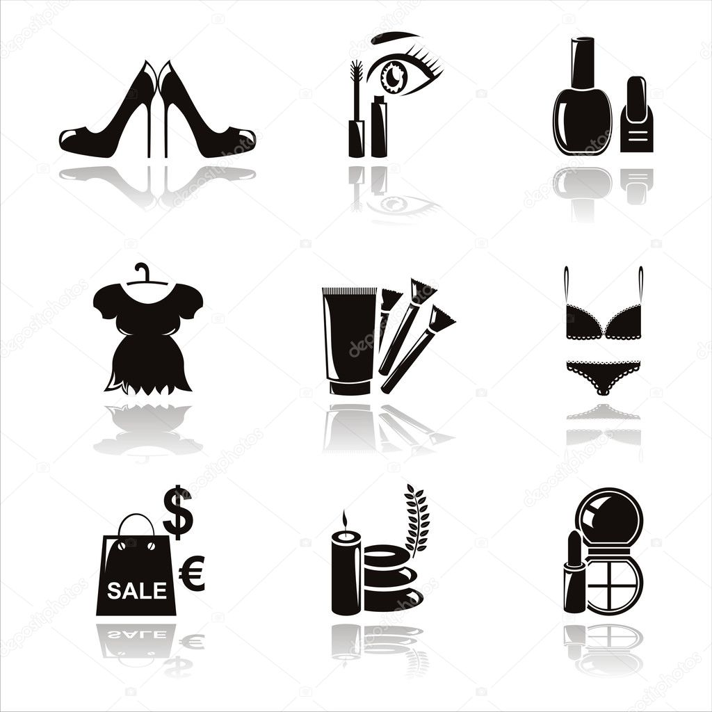 Black Beauty And Fashion Icons Stock Vector Isabelle 5448465