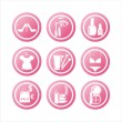 Royalty-Free Stock Vector Image: Pink beauty and fashion signs