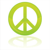 Peace symbol isolated on white — Stock Vector