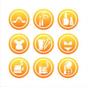 Orange beauty and fashion signs — Stock Vector
