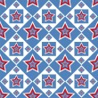 American colored stars pattern - Stock Vector