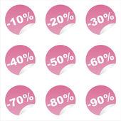 Pink sale stickers — Cтоковый вектор