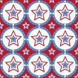 American colored stars pattern — Stock Vector