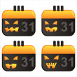 Halloween calendar icons — Stock Vector #5602934