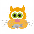 Cat isolated on white — Stock Vector