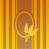 Wheat frame — Stock Vector