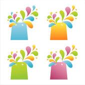 Kolorowe torby na zakupy — Wektor stockowy