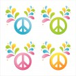 Colorful peace signs - Stock Vector