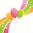 Birthday balloons background - Stock Vector