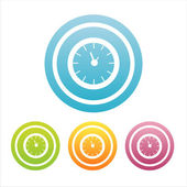 Colorful clock signs — Stock Vector