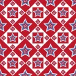 American colored stars pattern — Image vectorielle