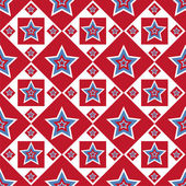 American colored stars pattern — Stok Vektör