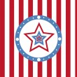 American colored stars background — Stock Vector