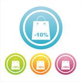 Renkli alışveriş işaretleri — Stok Vektör