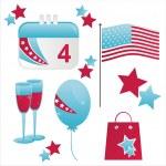 Patriotic american icons — Stock Vector