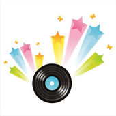 Vinyl record with splash — Stock Vector
